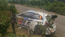 Sebastien Ogier Crash WRC Rallye Germany 2013