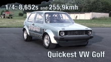 16Vampir VW Golf MK1 1000HP 4Motion new VW Golf world record!
