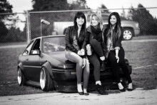 3 girls with a AE86