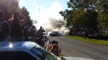 Mustango burnout'as