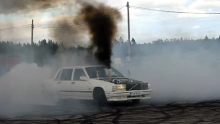 Volvo 740 Turbo Dieselio burnout'as