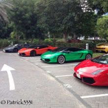 Lamborghini mėgėjų meet'as Dubajuje