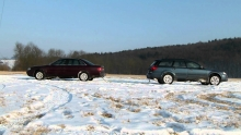 Audi A6 quattro vs. Subaru Outback on ice 2