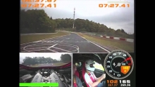 Please, NOOO! Ferrari 458 Challenge crashes with 220 km/h on a high speed lap!