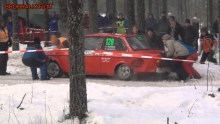 Crash Volvo - 2014 WRC Rally Sweden