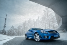 Mercedes-Benz SL63 AMG Blue metallic matte