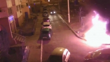 BMW X6 Burn to the Ground in Russia