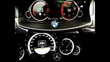 BMW 530d xDrive 2014 vs Mercedes Benz E 350 CDI 0-230 km/h