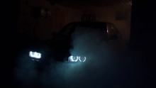 Bmw e36 burnout in garage