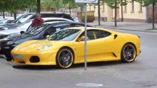 Ferrari F430 with iPE full exhaust revs and LOUD acceleration
