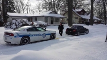 Subaru WRX pulls out stuck Police Officer