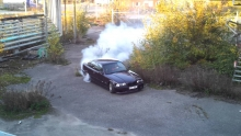 BMW E36 M3 Turbo 600hp Burnout