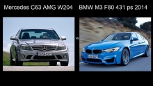 BMW M3 F80 2014 vs Mercedes C63 AMG 0 - 240 km/val.