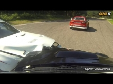 Subaru Impreza STi and Mitsubishi Lancer EVO X crash in Bikernieki
