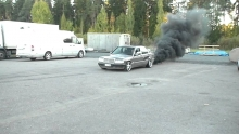 Mercedes Benz 190D Super Turbo BurnOut'as