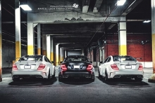 3x Mercedes C63 AMG BLACK SERIES