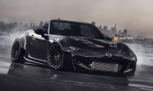 New 2016 Miata rendering with Enkei RS05RR
