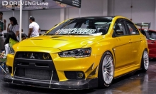 EVO on Enkei RS05RR Racing Revolution wheels
