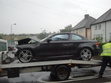 BMW 1series M sports crash