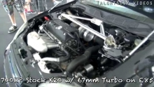 700hp K20 Civic vs. 700hp C7 Vette