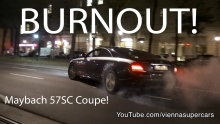 Maybach 57SC Coupe BURNOUT!!!!