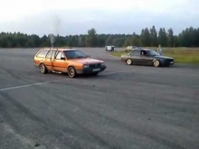Passat 1.9 turbo vs BMW 325 400m drag race
