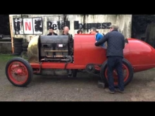 1911 28.4 litre Fiat S76 first start up - 28 November 2014