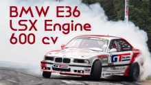 BMW E36 powered by LSX Engine - 600 HP