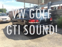 VW GOLF MK6 GTI awesome sound with EUROJET exhaust!
