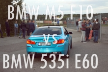 BMW M5 F10 vs BMW 535i E60 @ Taikos dragai.