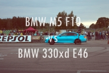 BMW 330xd E46 vs BMW M5 F10 @ Taikos dragai.