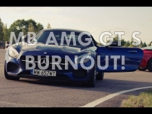 Mercedes - Benz AMG GT S burnout!