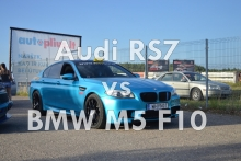 Audi RS7 vs BMW M5 F10!