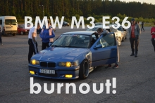 When drag racing turns to burnout! BMW M3 E36
