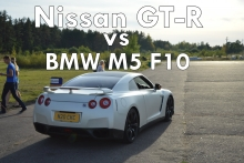 Nissan GT - R vs BMW M5 F10!