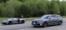 Audi RS6 Avant  vs Lamborghini LP700-4