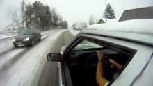 Volvo 940 Turbo Winter Drifting GoPro Full HD