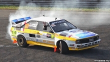 Audi Sport Quattro Doing Awesome Donuts Burnouts!!
