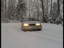 Drift BMW 3 series E36 Snow