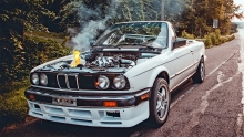 Turbo BMW Catches FIRE @ 120MPH