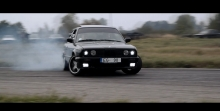 BMW e30 e36 325 drift burnout || HOONIGAN 2015 Latvia