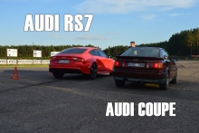 Audi RS7 vs Audi 90 Coupe Quattro 20V!