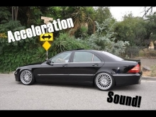 Mercedes-Benz S320 W220 0-100km/h acceleration & sound!