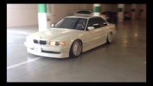 AIRRIDE BMW 740i on HUGE RIMS