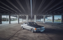 Mercedes Benz. SE class V8 5.0 w126 / Drift / Burnout