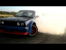 BMW E30 340i V8 BURNOUT !!!