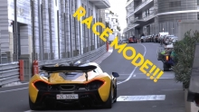 McLaren P1 in Race mode during Top Marques Monaco