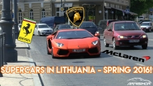 Supercars in Lithuania - Spring 2016!