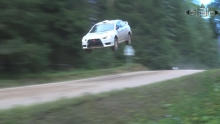 Alexander Gorelov crash in 300 Lakes rally 2016