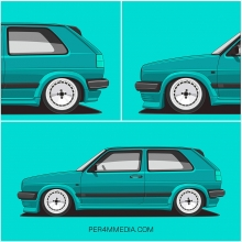 Montana green VW Golf MK2